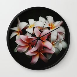 Flowers In The Dark Wall Clock
