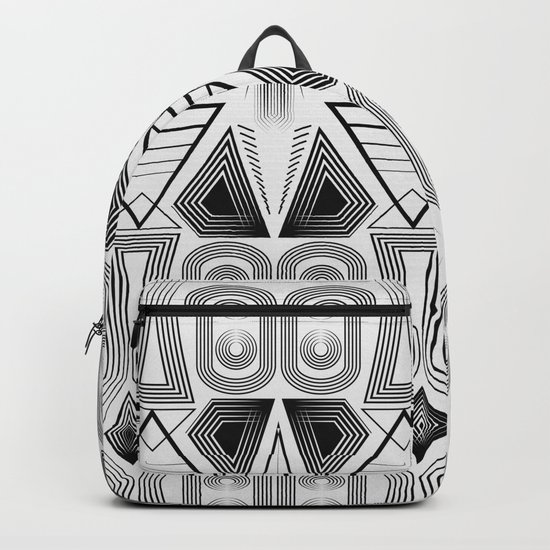 "Art Deco. ""Black and light gray"" 28 . Backpack"
