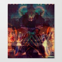 scary Canvas Prints featuring Scary by WDeluxe