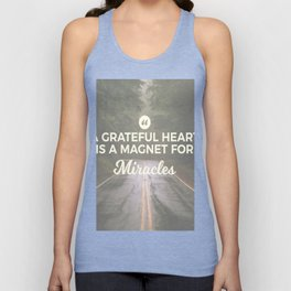 Grateful Heart Miracle Magnet Unisex Tank Top