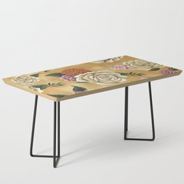 Gold luxury floral Coffee Table