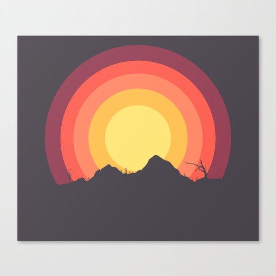 Mountain Sunset Canvas Print