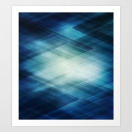 Amazing Abstract Triangular Galaxy - Visual Art V.6 Art Print
