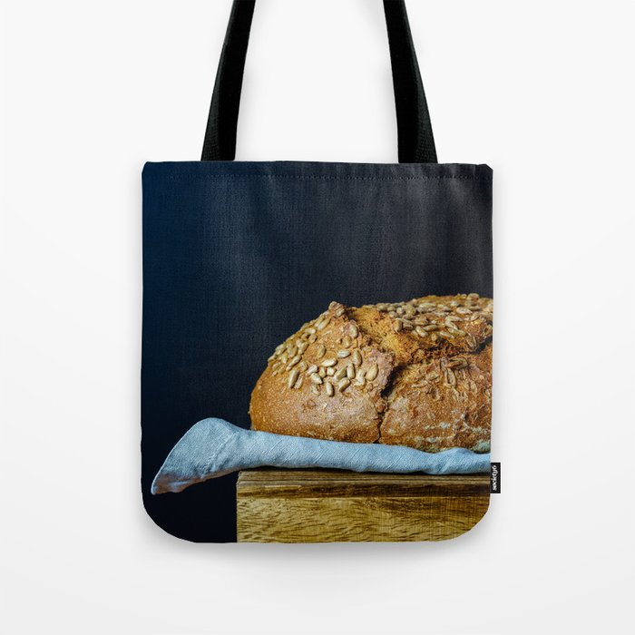 Sunflower Seeds Sourdough Bread on a Table Tote Bag