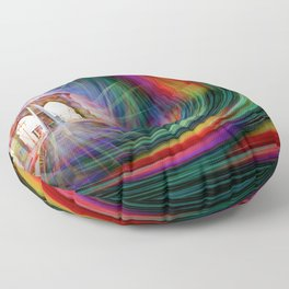 Our world is a magic - Time Tunnel 101 Floor Pillow