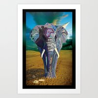 Elephant Time Art Print