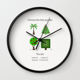 Gift for psychologist Wall Clock
