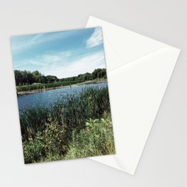 Pond in Midland Stationery Cards