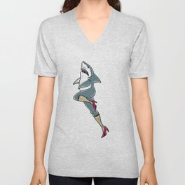 Femme Shark Unisex V-Neck
