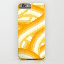 Mellow Yellow and Orange 70's Style Rainbow Stripes iPhone Case