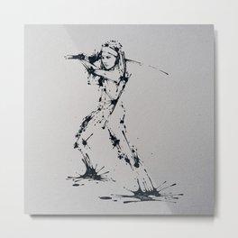 Splaaash Series - Michonne Ink Metal Print