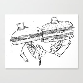 True Love (beef on beef). Canvas Print