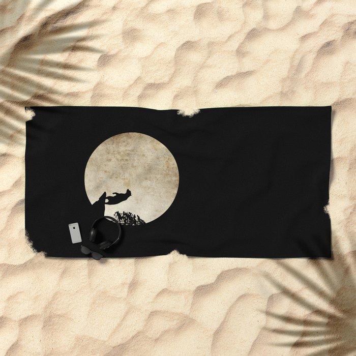 Bear Night Beach Towel