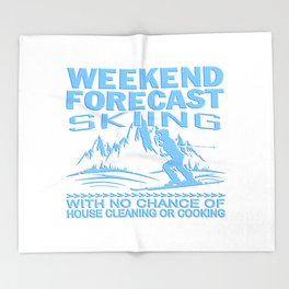 WEEKEND FORECAST SKIING Throw Blanket