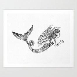 MermAngel Art Print