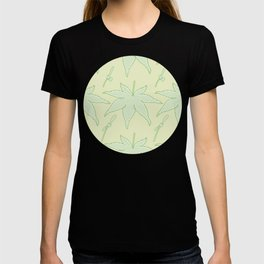 Japanese Maple Leaf and Seed Pattern T-shirt