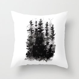 Haunted Woods Throw Pillow