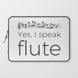 I speak flute Laptop Sleeve