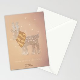 Christmas creatures- The Cozy Deer Stationery Cards