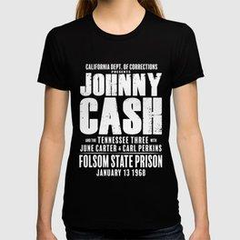 Johnny Cash at Folsom Prison T-shirt T-shirt