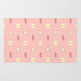 Skulls & Bacon - Pink Rug