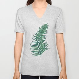 Night tropical palm leaves Unisex V-Neck