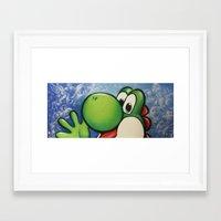 yoshi Framed Art Prints featuring Yoshi  by Sam Skyler