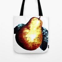 pear Tote Bags featuring Pear by Soulmaytz