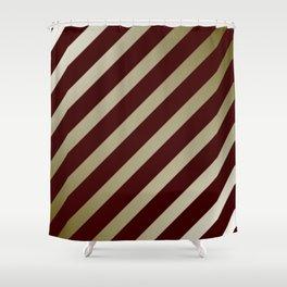 diagonal modern pattern Shower Curtain