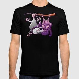 Opossum and Bat in Love T-shirt