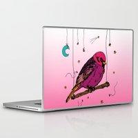birdy Laptop & iPad Skins featuring Birdy by Gwladys R.