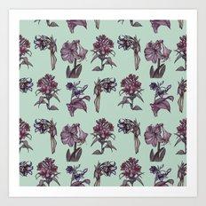 Botanical Florals | Vintage Raspberry Art Print