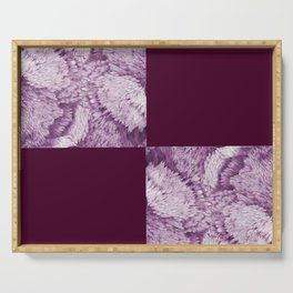 Season of the Square - Magenta Check Serving Tray