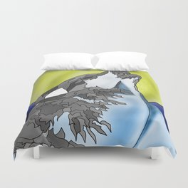 The howling Mountain Duvet Cover