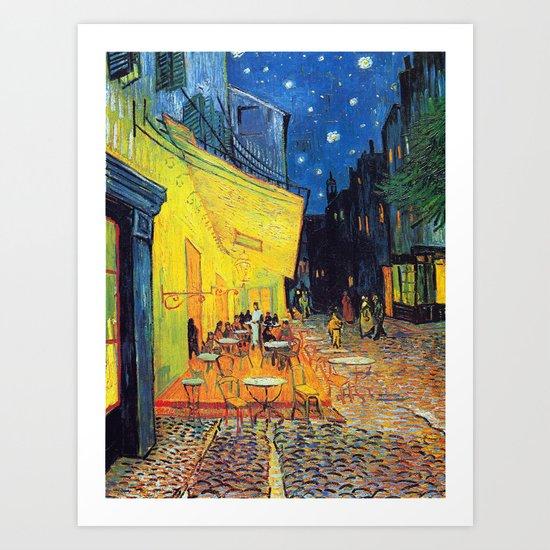 Vincent Van Gogh - Cafe Terrace at Night (new color edit) by dejavustudio