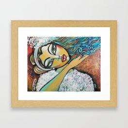 Farewell kiss Framed Art Print