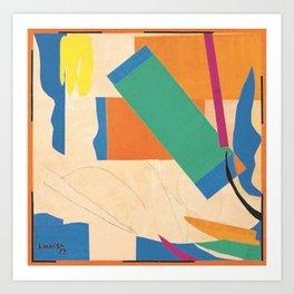 Henri Matisse - Tahiti, Memory of Oceania Tropical cut-out series portrait panting Art Print