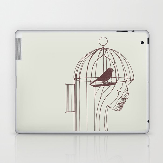 Be Alone Laptop & iPad Skin