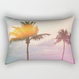Palm Trees on the Beach Rectangular Pillow