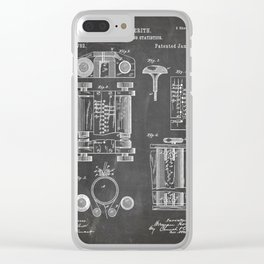 First Computer Patent - Technology Art - Black Chalkboard Clear iPhone Case