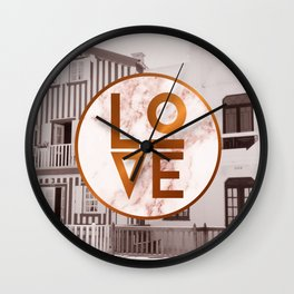 Marble Love Wall Clock