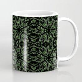 Forest Green Etch Coffee Mug
