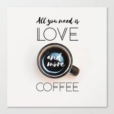 Love & Coffee Canvas Print