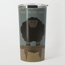 Baa Baa Black Sheep. Children's Nursery Rhyme Inspired Artwork. Travel Mug
