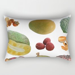 Exotic Fruit Collage Rectangular Pillow