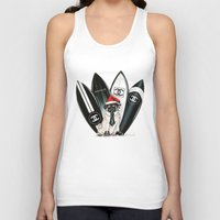 karl lagerfeld Tank Tops featuring Santa Pug Lagerfeld  by LATIN for GLORY