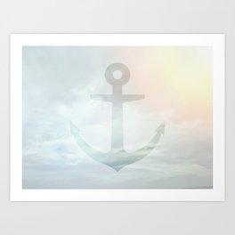 Anchor Sky Art Print