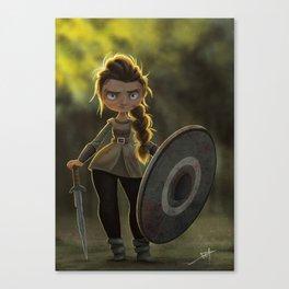 Viking Shieldmaiden Canvas Print