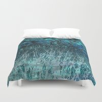 marine Duvet Covers featuring Marine Scape Deekflo Print AwesomePaletteSoc6 by Awesome Palette