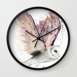 Heart Winged Owl Wall Clock